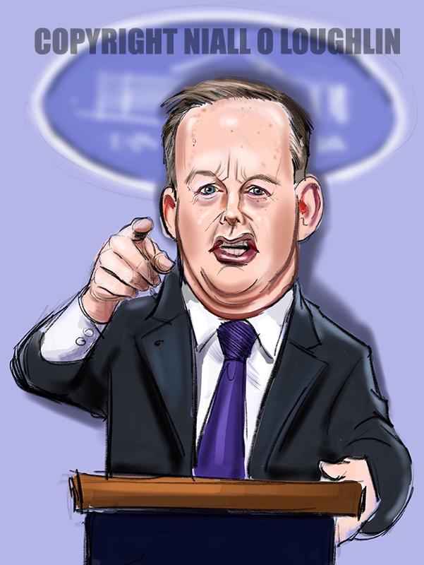 Sean Spicer caricature
