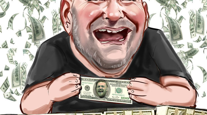 Dana White caricature