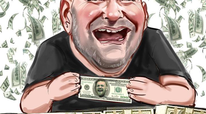 Dana White caricature