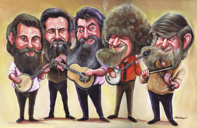 The Dubliners caricature
