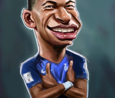 Kylian Mbappe caricature