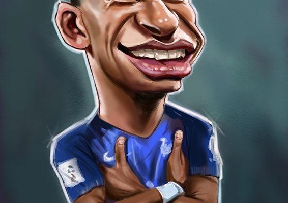 Kylian Mbappe caricature