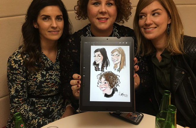 digital caricatures Belfast