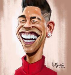 Roberto Firmino Liverpool caricature