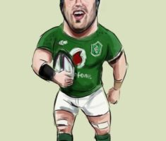 Sean O'Brien Rugby caricature