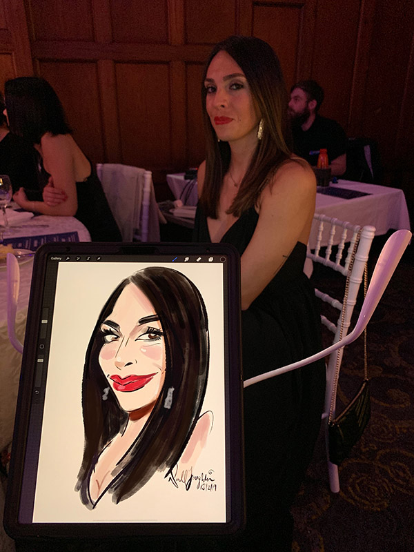 Digital caricatures Dubai