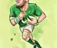 Peter O'Mahony Rugby caricature